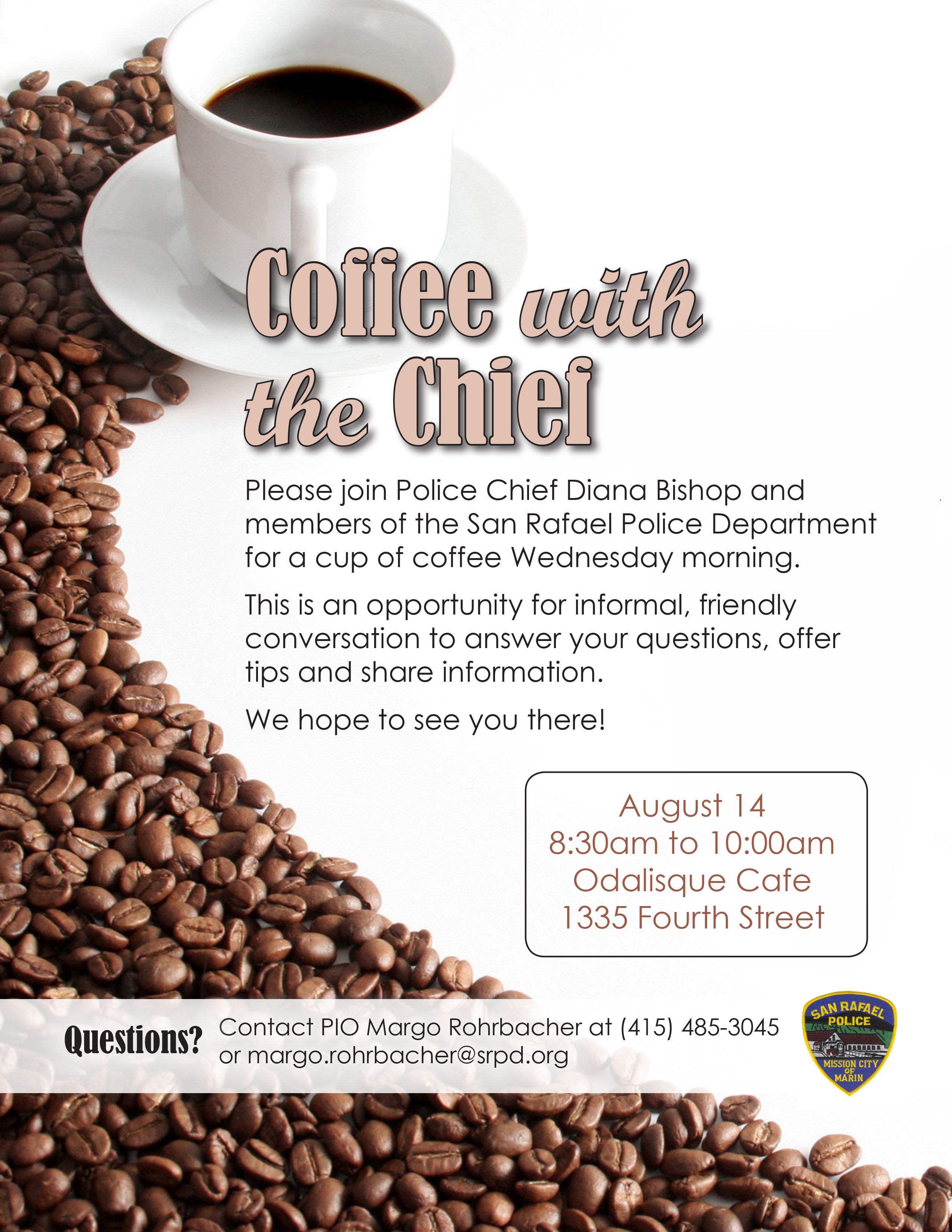 Coffee with the Chief Flyer